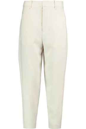 ISABEL MARANT Cropped crepe tapered pants