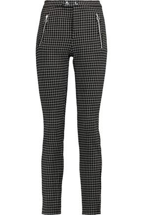 ISABEL MARANT Checked wool-blend slim-leg pants