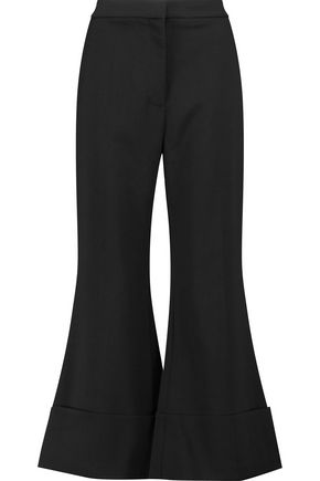 STELLA McCARTNEY Cropped wool-blend flared pants