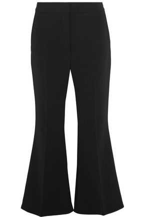 STELLA McCARTNEY Cropped wool-twill flared pants