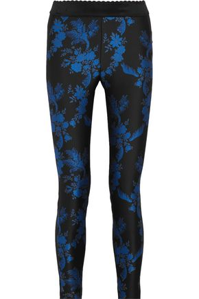 STELLA McCARTNEY Eve paneled crepe and cotton-blend leggings