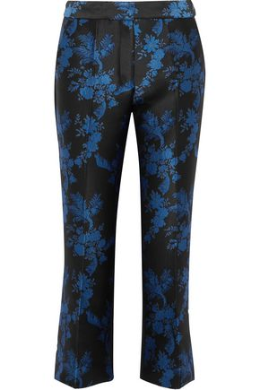 STELLA McCARTNEY Eaton brocade and wool twill-paneled bootcut pants