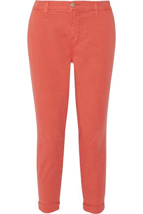 J BRAND Josie stretch cotton-blend twill slim-leg pants