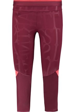 ADIDAS by STELLA McCARTNEY Run 3/4 printed stretch-jersey leggings