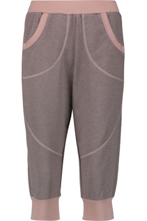 ADIDAS by STELLA McCARTNEY Cropped cotton-blend track pants