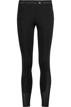ADIDAS by STELLA McCARTNEY Run mesh-paneled stretch-knit leggings