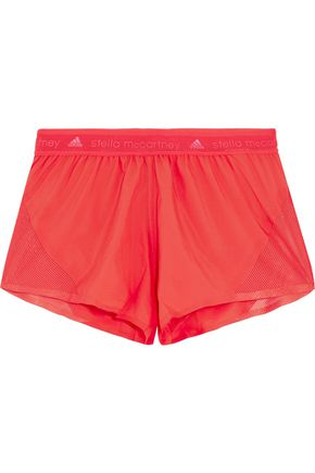 ADIDAS by STELLA McCARTNEY Run mesh-paneled shell shorts