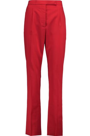 VALENTINO Stretch-wool straight-leg pants