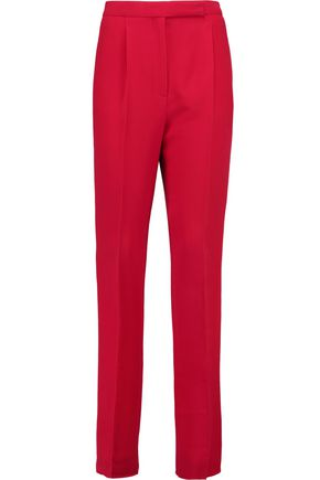 VALENTINO Silk-crepe tapered pants