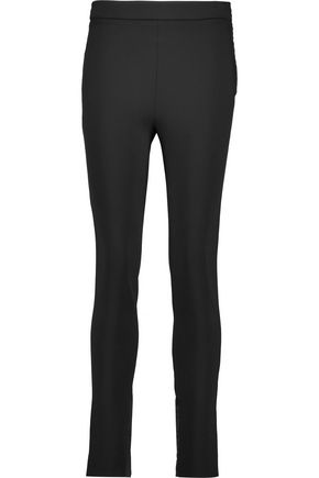 VALENTINO Stretch cotton-blend straight-leg pants
