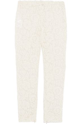 VALENTINO Lace slim-leg pants