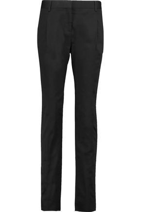 VALENTINO Cotton-blend straight-leg pants