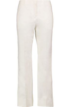 VALENTINO Cropped cotton-blend poplin wide-leg pants