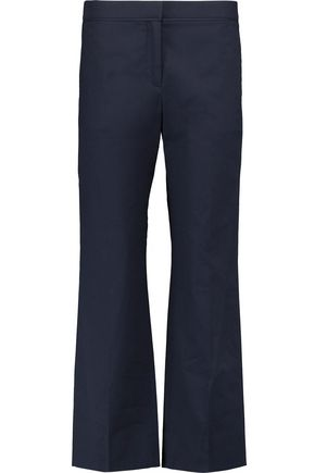 VALENTINO Cotton-blend poplin wide-leg pants