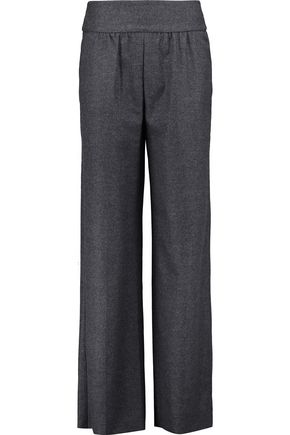 VALENTINO Brushed wool straight-leg pants
