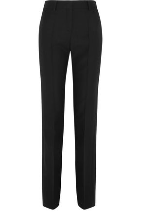 VALENTINO Wool and silk-blend crepe straight-leg pants