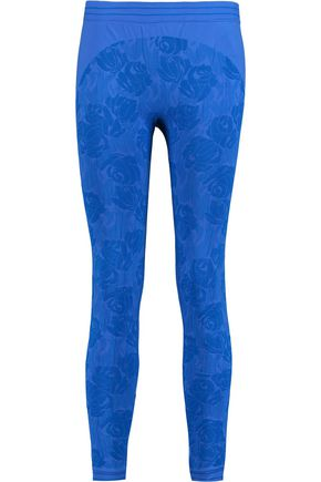 ADIDAS by STELLA McCARTNEY Stretch-jersey floral-jacquard leggings