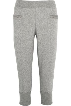ADIDAS by STELLA McCARTNEY Essentials cropped cotton-blend jersey track pants
