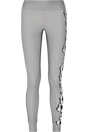 ADIDAS by STELLA McCARTNEY Floral-print Climalite stretch leggings