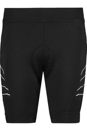 ADIDAS by STELLA McCARTNEY Mesh-paneled stretch-knit shorts