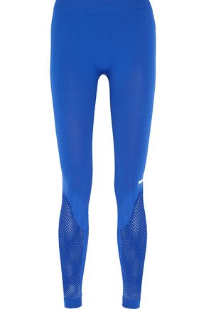 ADIDAS by STELLA McCARTNEY Mesh-paneled stretch-jersey leggings