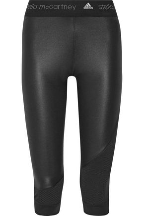 ADIDAS by STELLA McCARTNEY Climacool mesh-trimmed leggings