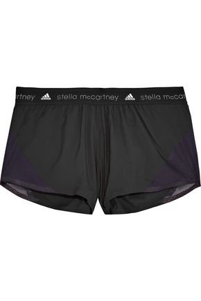 ADIDAS by STELLA McCARTNEY Mesh-trimmed shell shorts
