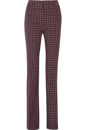 ALTUZARRA Serge checked cotton-blend bootcut pants