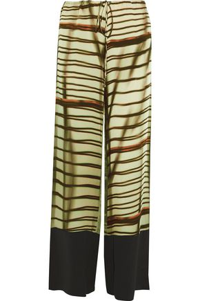 AMANDA WAKELEY The Cayetano printed silk-satin pants