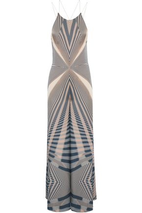 AMANDA WAKELEY Beam printed silk jumpsuit
