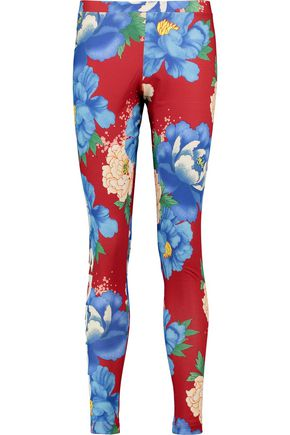 ADIDAS ORIGINALS Floral-print stretch-jersey leggings