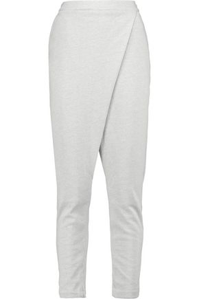 ADIDAS ORIGINALS Wrap-effect cotton-blend jersey track pants