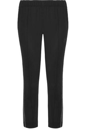 ADIDAS ORIGINALS Mesh-trimmed crepe track pants
