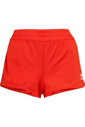 ADIDAS ORIGINALS Striped stretch-jersey shorts