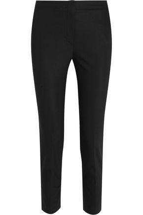 HELMUT LANG Cropped crepe slim-leg pants