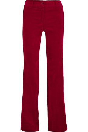 MICHAEL MICHAEL KORS Stripe-trimmed cotton-blend velvet pants