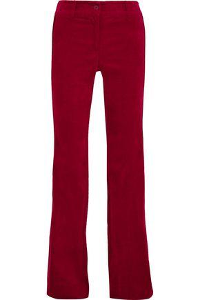 MICHAEL MICHAEL KORS Stripe-trimmed cotton-blend velvet pants