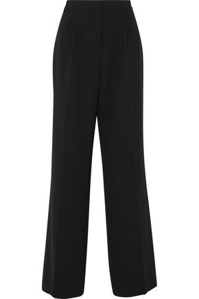 REBECCA VALLANCE Pleated crepe wide-leg pants