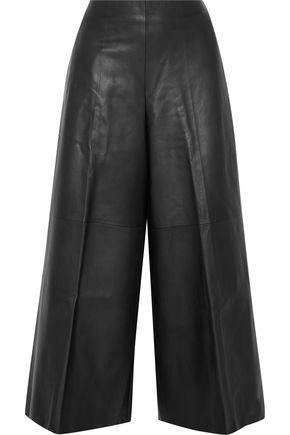 MAISON MARGIELA Leather wide-leg pants