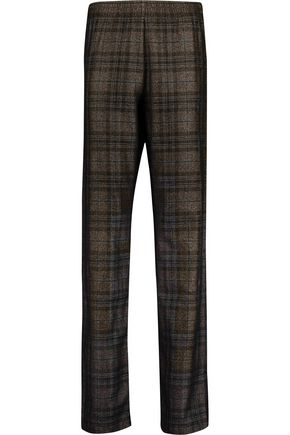 MAISON MARGIELA Checked wool-blend straight-leg pants