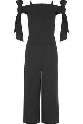 TIBI Off-the-shoulder crepe jumpsuit