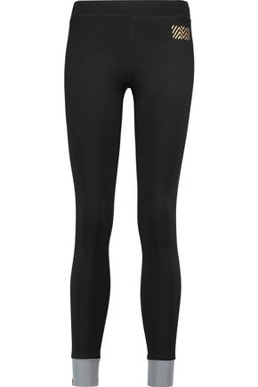 MONREAL LONDON Paneled stretch-knit leggings