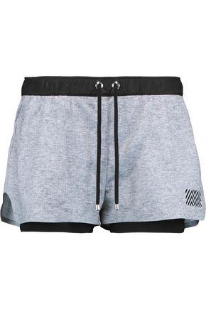 MONREAL LONDON Hero layered stretch-knit shorts