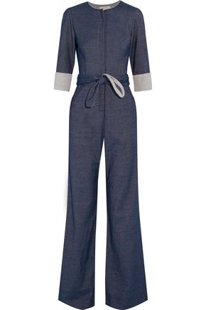 GOAT Dreyfuss belted chambray jumpsuit