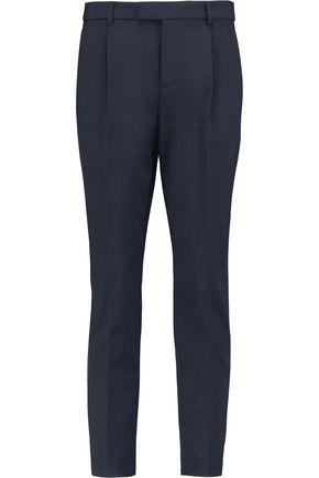 REDValentino Pleated twill slim-leg pants