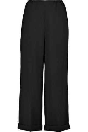 REDValentino Wool-crepe wide-leg pants