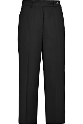REDValentino Cropped twill straight-leg pants