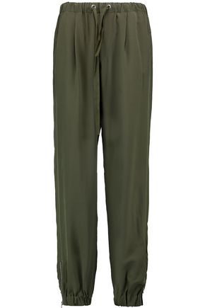 REDValentino Silk-crepe tapered pants