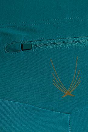 LUCAS HUGH Mesh-paneled dégradé stretch leggings