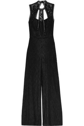 ALEXIS Naya open-back guipure lace jumpsuit